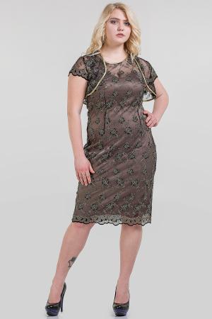 Платье футляр золотистого цвета |интернет-магазин vvlen.com