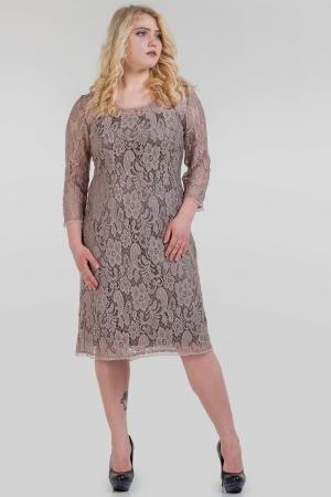 Платье футляр бежевого цвета |интернет-магазин vvlen.com