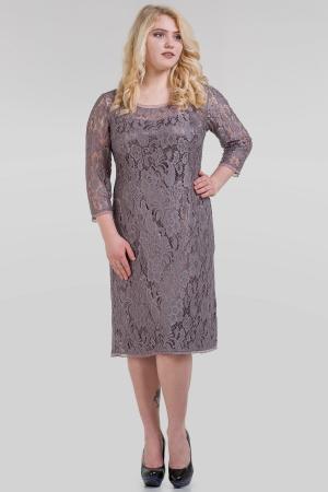 Платье футляр серо-фиолетового цвета |интернет-магазин vvlen.com