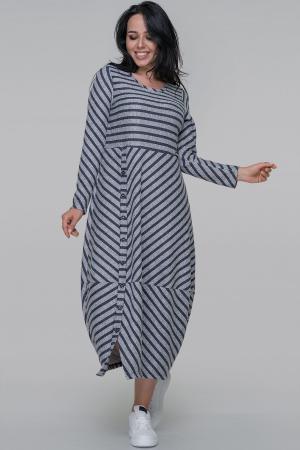 Платье  мешок серого с синим цвета 2674.103|интернет-магазин vvlen.com