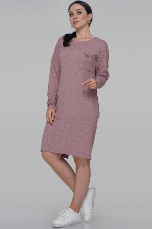 Повседневное платье  мешок фрезового цвета 2794-5.119|интернет-магазин vvlen.com