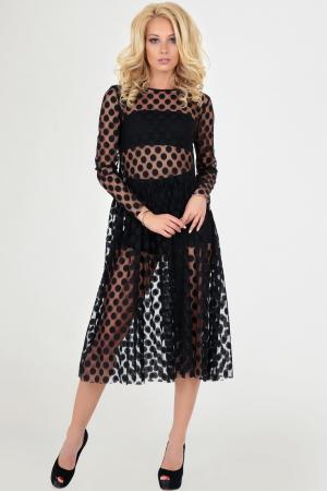 Клубное платье оверсайз черного гороха цвета|интернет-магазин vvlen.com