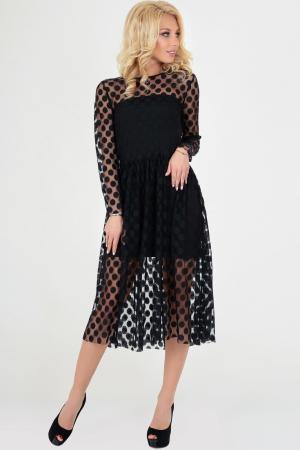 Клубное платье с пышной юбкой черного гороха цвета|интернет-магазин vvlen.com