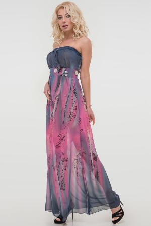 Летнее платье с открытыми плечами розового тона цвета 880.7|интернет-магазин vvlen.com