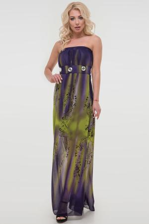 Летнее платье с открытыми плечами сиреневого тона цвета 880.7|интернет-магазин vvlen.com