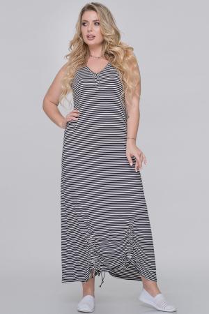 Летнее платье  мешок полоски черной цвета|интернет-магазин vvlen.com