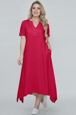 Летнее платье трапеция красного цвета|интернет-магазин vvlen.com