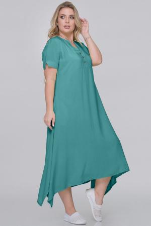 Летнее платье трапеция морской волны цвета|интернет-магазин vvlen.com