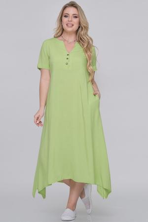 Летнее платье трапеция гороховый цвета|интернет-магазин vvlen.com