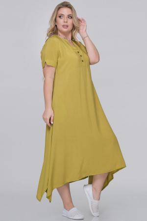 Летнее платье трапеция горчичного цвета|интернет-магазин vvlen.com