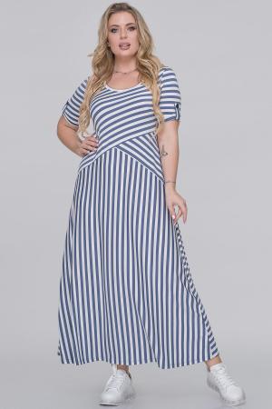 Летнее платье трапеция полоски джинс цвета|интернет-магазин vvlen.com