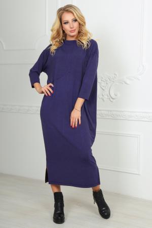Повседневное платье рубашка фиолетового цвета 2484.17|интернет-магазин vvlen.com