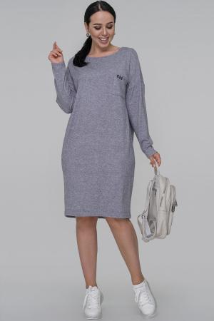Повседневное платье  мешок джинса цвета 2794-5.119|интернет-магазин vvlen.com