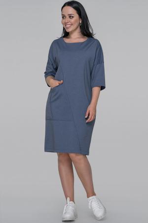 Платье  мешок джинса цвета 2934.47|интернет-магазин vvlen.com