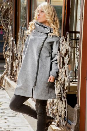 Кардиган оверсайз серого цвета 2411.70|интернет-магазин vvlen.com
