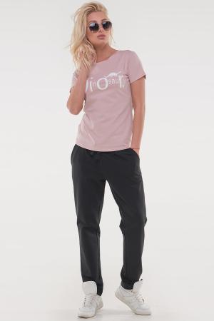Женская футболка пудра|интернет-магазин vvlen.com