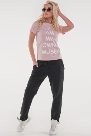 Женская футболка с надписью|интернет-магазин vvlen.com