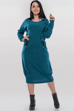 Платье оверсайз бирюзового цвета 2868.92|интернет-магазин vvlen.com