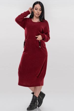 Платье оверсайз красного цвета 2868.92|интернет-магазин vvlen.com