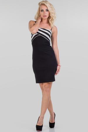 Летнее платье-комбинация черного цвета 1109.2|интернет-магазин vvlen.com