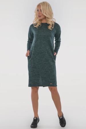Повседневное платье  мешок зеленого цвета 2794-4.96|интернет-магазин vvlen.com