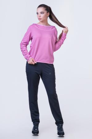 Спортивный костюм черного с розовым цвета 2387.79|интернет-магазин vvlen.com