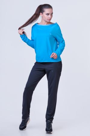 Спортивный костюм черного с голубым цвета 2387.79|интернет-магазин vvlen.com
