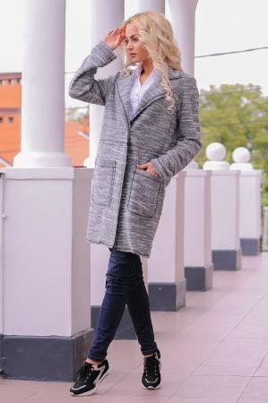 Кардиган модный серого цвета 2393.21 интернет-магазин vvlen.com