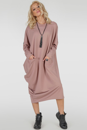 Платье оверсайз пудры цвета 2792.79|интернет-магазин vvlen.com
