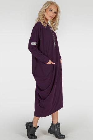 Платье оверсайз марсалы цвета 2792.79|интернет-магазин vvlen.com