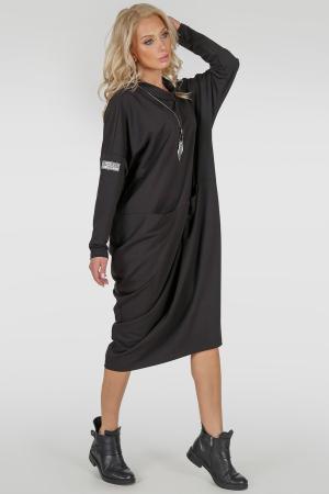 Платье оверсайз черного цвета 2792.79|интернет-магазин vvlen.com