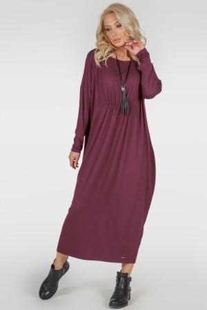 Платье оверсайз бордового цвета 2801.17|интернет-магазин vvlen.com