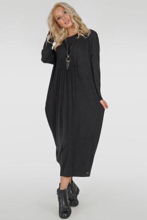Платье оверсайз темно-серого цвета 2801.17|интернет-магазин vvlen.com