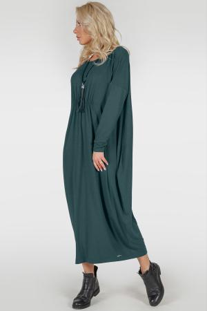 Платье оверсайз зеленого цвета 2801.17|интернет-магазин vvlen.com