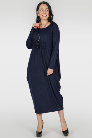 Платье оверсайз синего цвета 2801.17|интернет-магазин vvlen.com