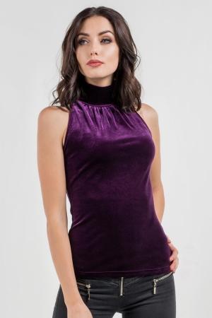 Блуза фиолетового цвета|интернет-магазин vvlen.com