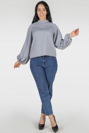 Блуза серый цвета|интернет-магазин vvlen.com