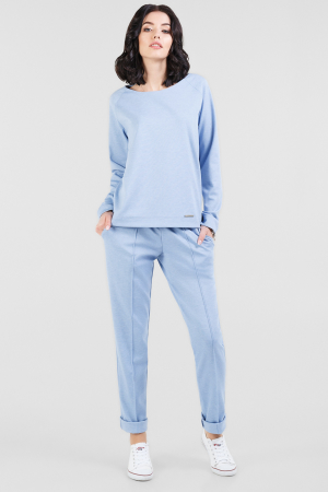 Домашний костюм серо-фиолетового цвета |интернет-магазин vvlen.com