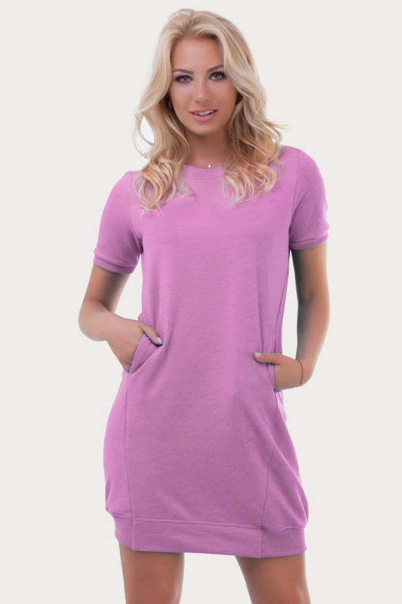 Спортивное платье  темно-розового цвета|интернет-магазин vvlen.com