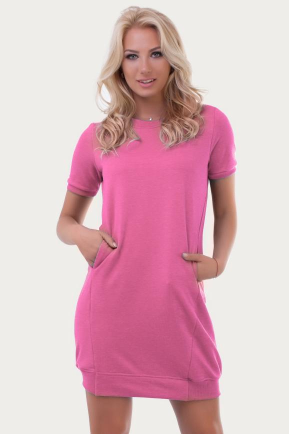 Спортивное платье  розового цвета 6001|интернет-магазин vvlen.com
