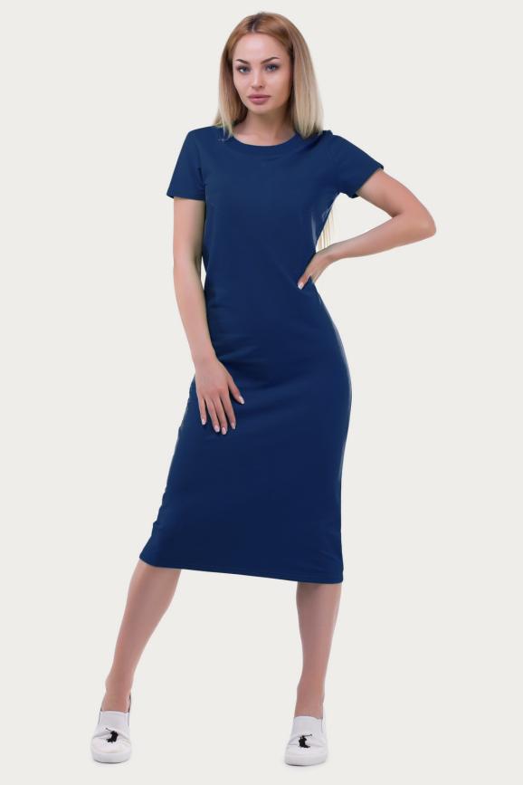 Спортивное платье  темно-синего цвета 6002-2|интернет-магазин vvlen.com