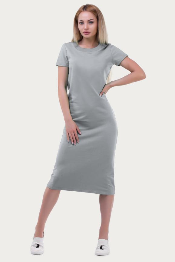Спортивное платье  серого цвета 6002-2|интернет-магазин vvlen.com
