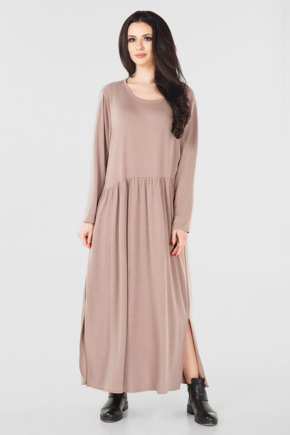 Платье оверсайз бежевого цвета интернет-магазин vvlen.com