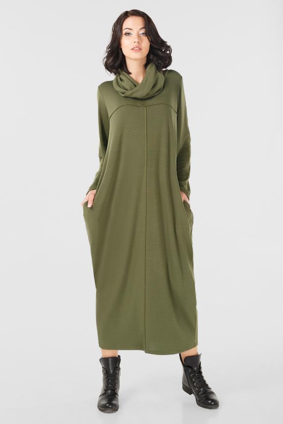 Платье оверсайз хаки цвета it 1717|интернет-магазин vvlen.com