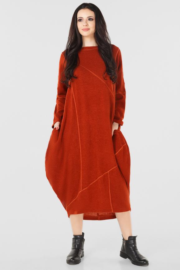 Платье оверсайз рыжего цвета it 229|интернет-магазин vvlen.com