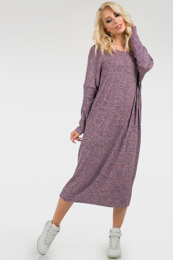 Трикотажное платье оверсайз|интернет-магазин vvlen.com