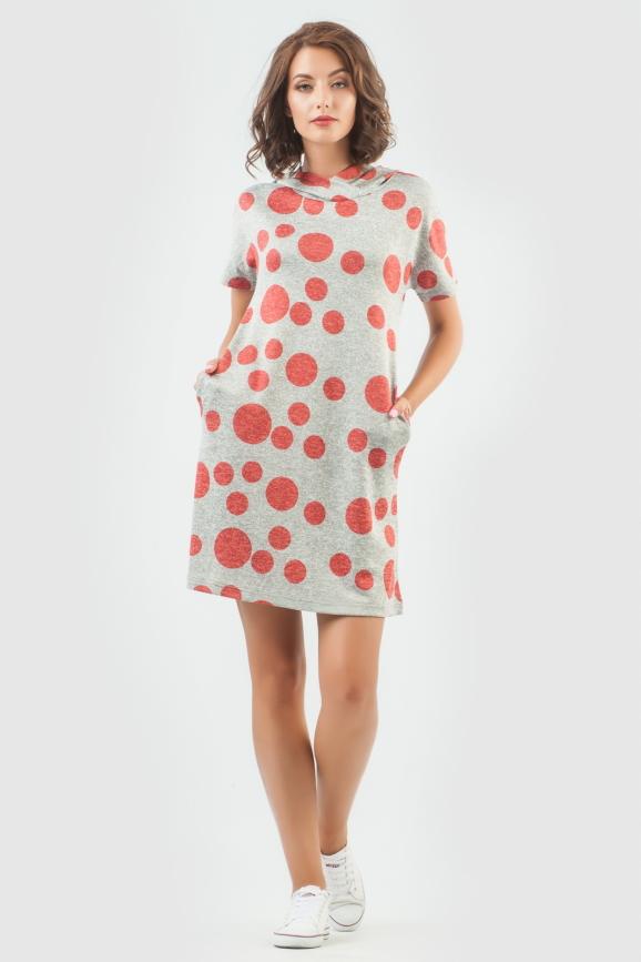 Спортивное платье  красного цвета 6007-1|интернет-магазин vvlen.com