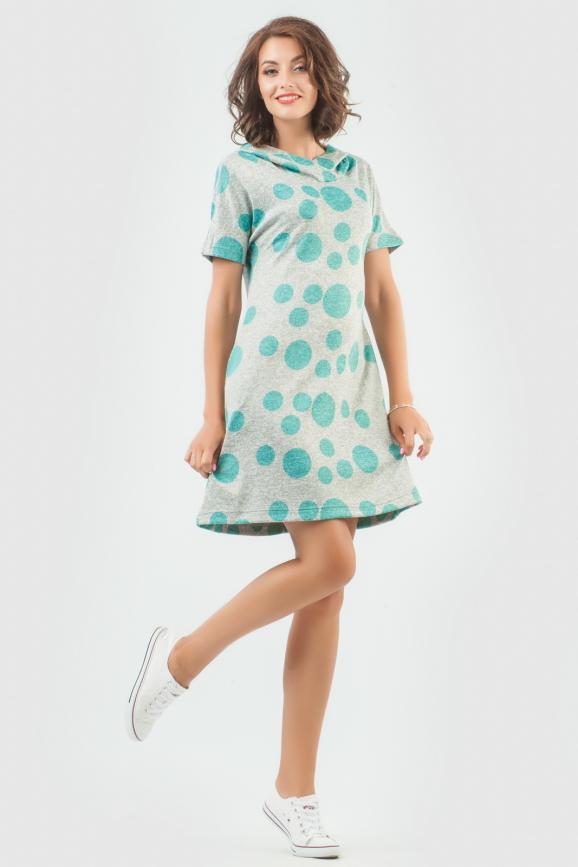 Спортивное платье  ментола цвета 6007-1 интернет-магазин vvlen.com