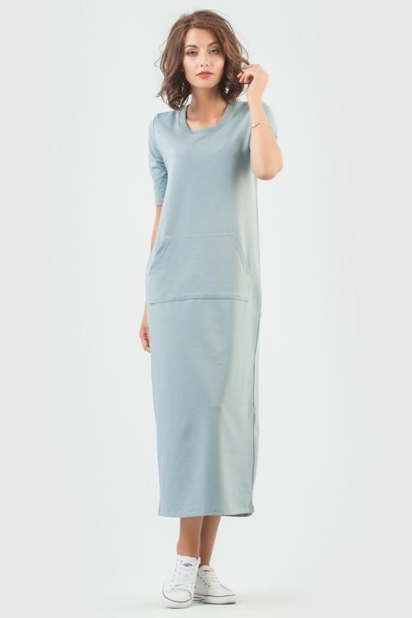 Спортивное платье  светло-серого цвета 6000-3|интернет-магазин vvlen.com