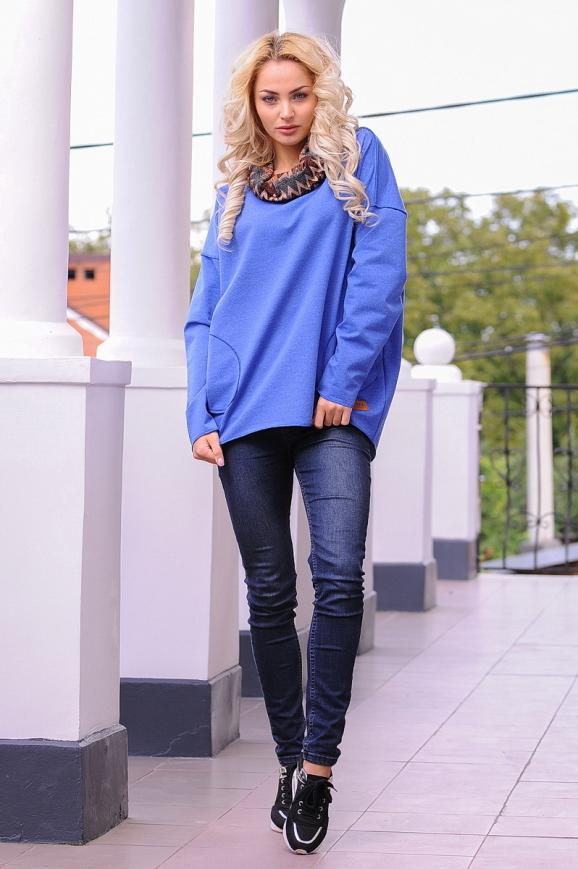 Худи оверсайз голубого цвета  2405-1.79|интернет-магазин vvlen.com
